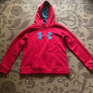 Girls Under Armour pink sweatshirt